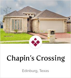 Chapin's Crossing, Edingburg new homes