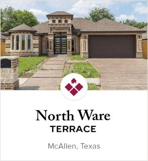North Ware Terrace, McAllen new homes