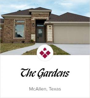 The Gardens, McAllen new homes